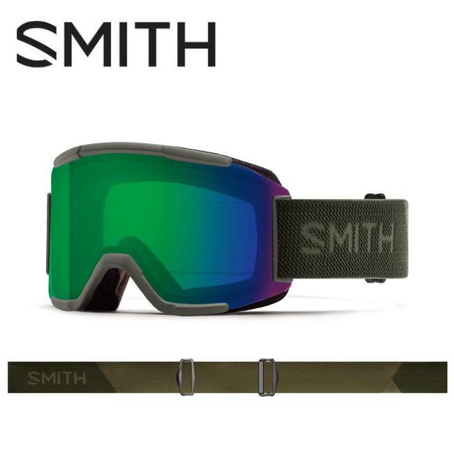 2020 スミス SMITH OPTICS Squad Sage Flood CP Everyday Green Mirror / Yellow 010260122 【ゴーグル/日本正規品/ジャパンフィット/アジアンフィット】
