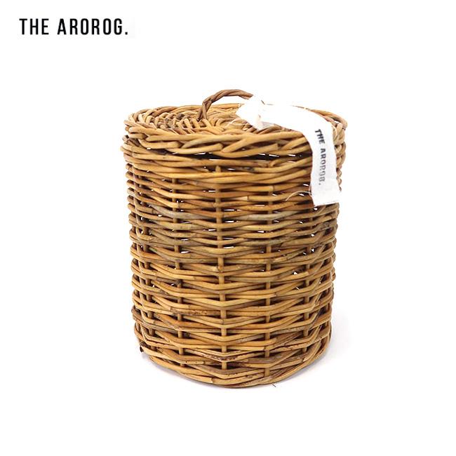 THE AROROG アラログ アラログふた付きラウンドバスケット L 91910014 【かご/インテリア/収納/キャンプ/アウトドア】