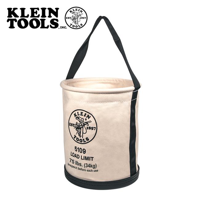 ★ KLEIN TOOLS クラインツールズ Wide Opening Straight Wall Bucket ワイドオープニングストレートウォールバケツ 5109 【アウトドア/キャンプ/収納/仕事/キャンバス/ツールバケツ】