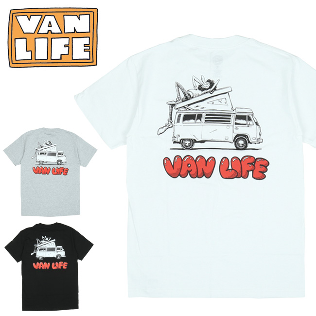 VAN LIFE バンライフ POCKET T-SHIRTS ポケットティーシャツ VL-02-004 【半袖/トップス/アウトドア/カジュアル】【メール便・代引不可】