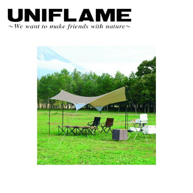 ★ UNIFLAME ユニフレーム REVOタープII M TAN 681800 【アウトドア/キャンプ/日よけ/防災】
