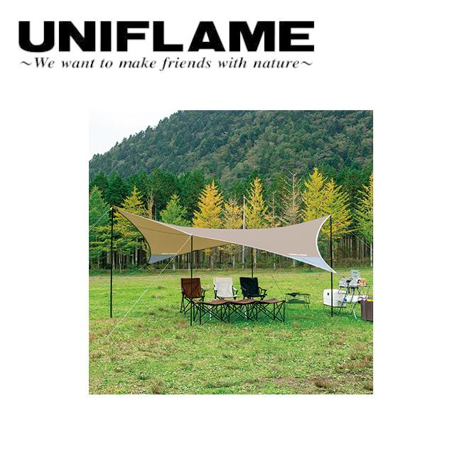 ★ UNIFLAME ユニフレーム REVOタープII L TAN 681886 【アウトドア/キャンプ/日よけ/防災】