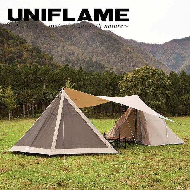 ★ UNIFLAME ユニフレーム REVOフラップII TAN 681992 【タープ/荷物置き/日よけ/アウトドア/キャンプ】