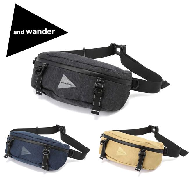 ★ and wander アンドワンダー heather waist bag ヘザーウエストバッグ 574-0985007 【アウトドア/鞄】