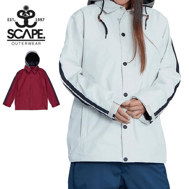 ★ 2020 SCAPE エスケープ Women's LINE COACH JACKET ウィメンズラインコーチジャケット 71119318 【2020/スノーボードウェア/日本正規品】