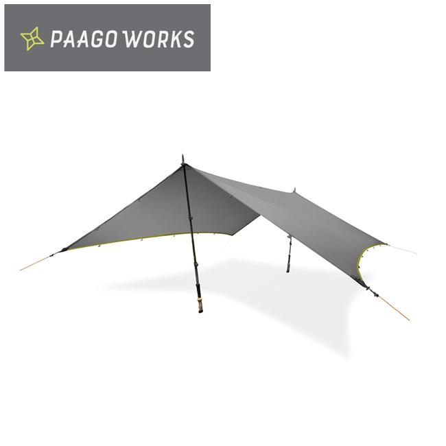 ★PaaGo WORKS パーゴワークス NINJA TARP ニンジャタープ ダークグレー CT001DGR 【キャンプ/日除け/アウトドア】
