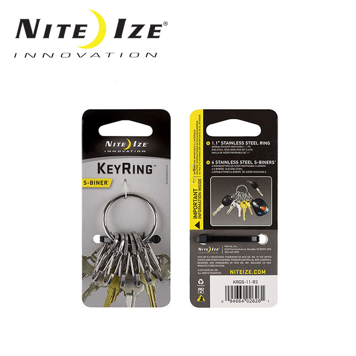 便利 小物 雑貨 キー 賜物 ツール ナイトアイズ NITE-IZE メール便 日本正規品 全品送料無料 KRGS-11-R3 代引不可 ステンレスシルバー キーホルダーキーリングスチール