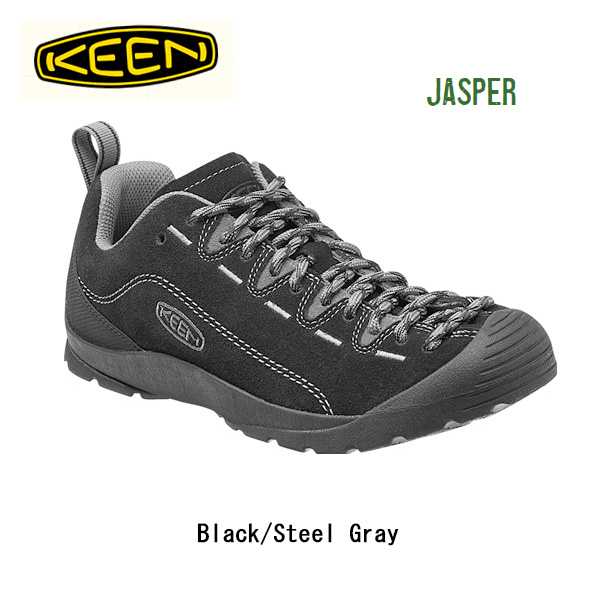 キーン KEEN スニーカー Jasper Black/Steel Gray/ 1014823/メンズ 【clapper】