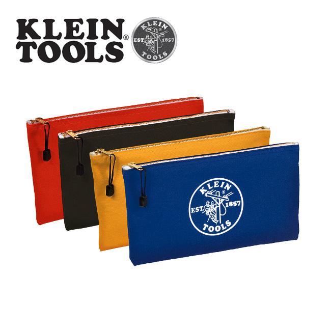 KLEIN TOOLS クラインツールズ ZIPPER Bags Canvas 4-Pack 5140 Royal-blue/Yellow/Olive/Orange 【カバン】ポーチ キャンバス お買い得 【clapper】