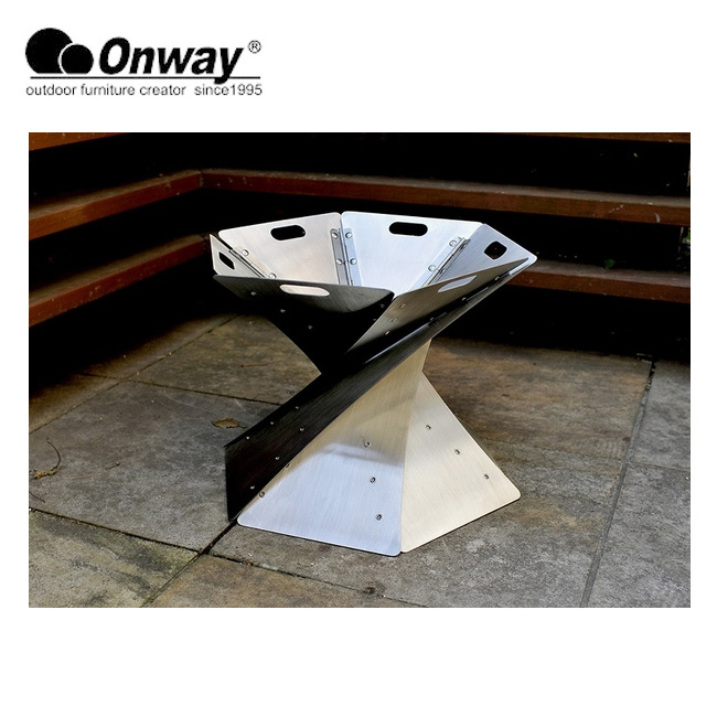 Onway/オンウエー 聖火焚火台 OW-3833 【BBQ】【GLIL】 焚火台 折り畳み収納 グリル BBQ アウトドア キャンプ 【clapper】