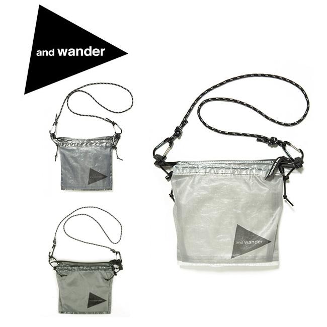 アンドワンダー and wander サコッシュ cuben fiber sacoche AW-AA985 【カバン】ショルダーバッグ