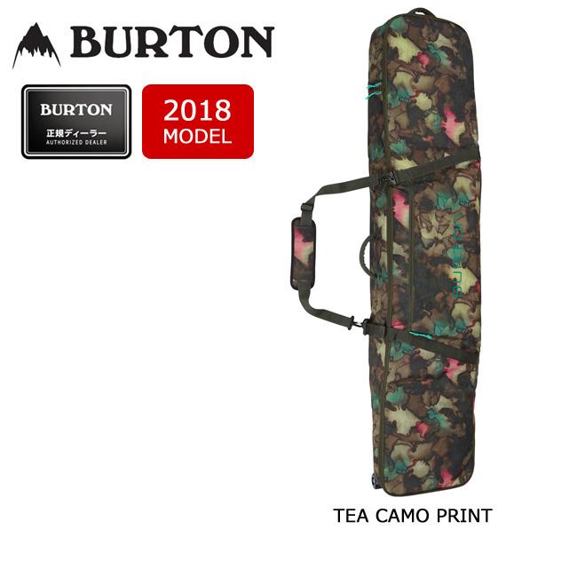 【スマホエントリでP10倍 11/21 09:59迄 】即日発送 2018 BURTON バートン ボードケース WHEELIE GIG BAG TEA CAMO PRINT/10994104995 【カバン】