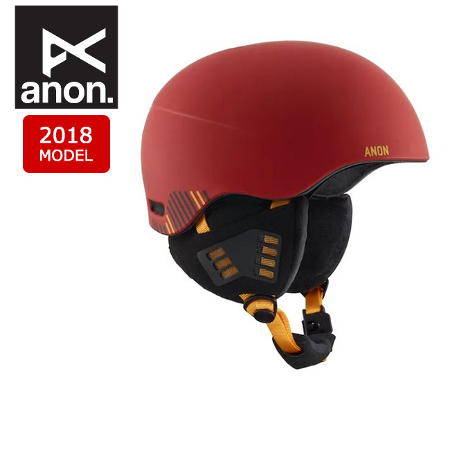 2018 anon アノン ヘルメット HELO 2.0 RIP CITY RED 【スノー雑貨】日本正規品 メンズ 【clapper】
