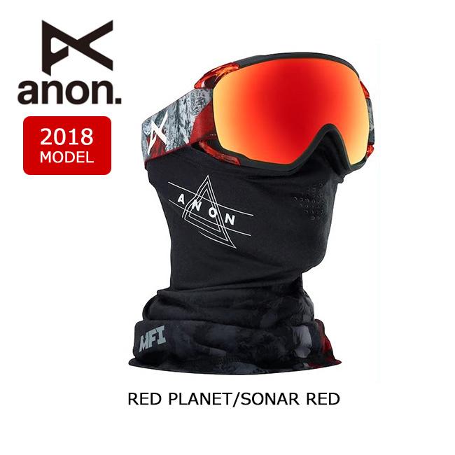 即日発送 2018 ゴーグル anon アノン CIRCUIT MFI RED PLANET/SONAR RED 【ゴーグル】日本正規品 アジアンフィット メンズ