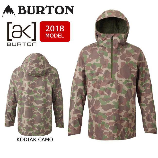 即日発送 2018 BURTON バートン スノーボードウェア ジャケット M AK GORE VELOCITY JACKET KODIAK CAMO 14979102960 メンズ GORE-TEX 【スノーウェア】