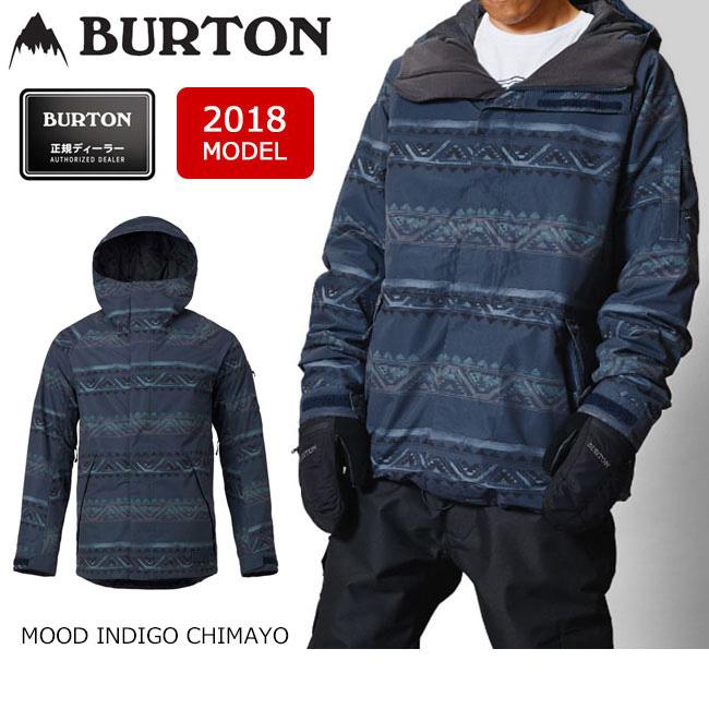 即日発送 2018 BURTON バートン スノーボードウェア ジャケット MB HILLTOP JACKET MOOD INDIGO CHIMAYO 13066103402 メンズ 【スノーウェア】