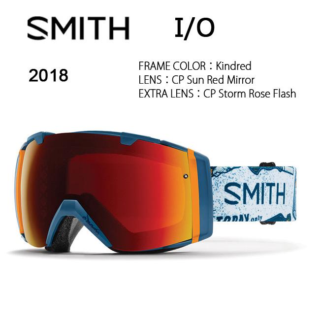 即日発送 2018 スミス SMITH OPTICS I/O ゴーグル Kindred/CP Sun Red Mirror/CP Storm Rose Flash 【ゴーグル】ミディアムフィット アジアンフィット