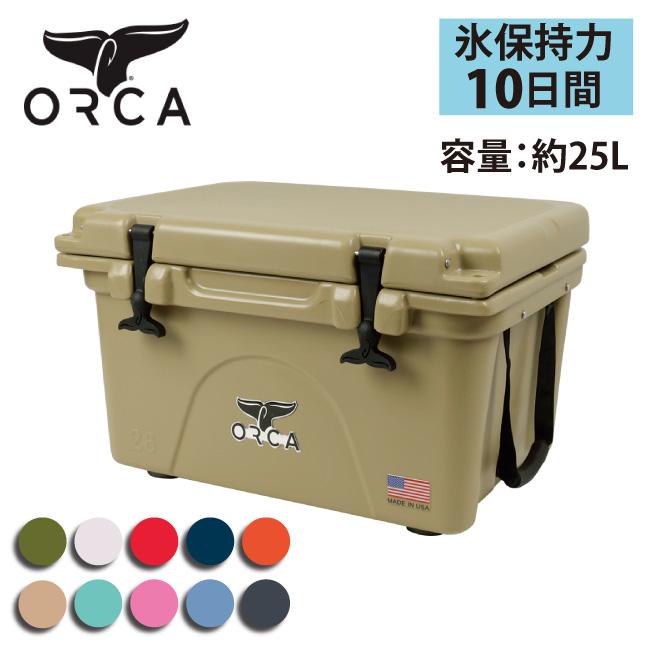 ★ ORCA オルカ クーラーボックス 26 Quart 【ZAKK】大型 クーラーBOX バーベキュー アウトドア 保冷 ピクニック 海水浴