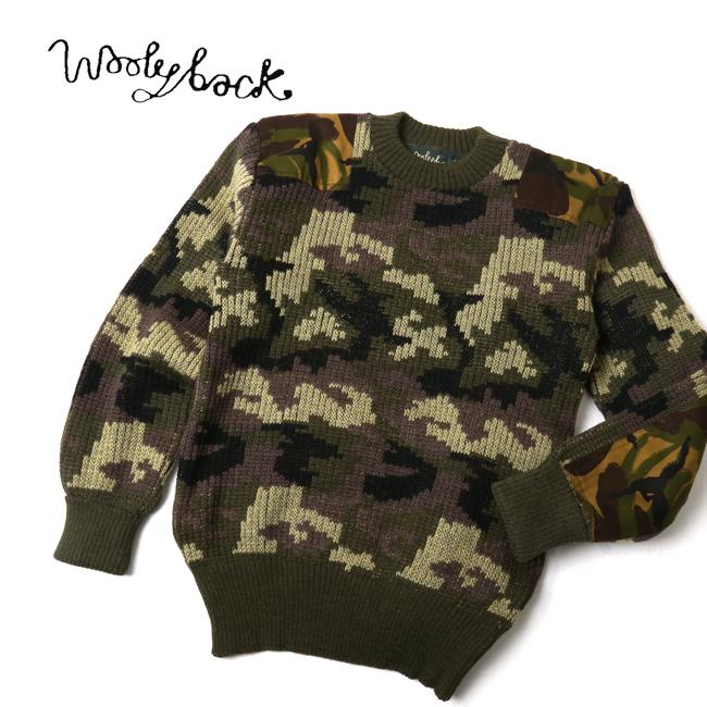 Woolyback ウーリーバック ニット Stirling Woodland Camo C-Neck 33104 【服】メンズ ニットウール 冬物 暖か 丸首 クルーネック 【clapper】