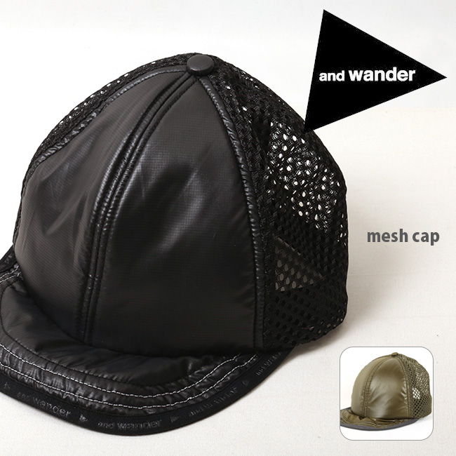 アンドワンダー and wander キャップ mesh cap メッシュキャップ AW81-AA047 【帽子】ファッション おしゃれ アウトドア フェス 【clapper】