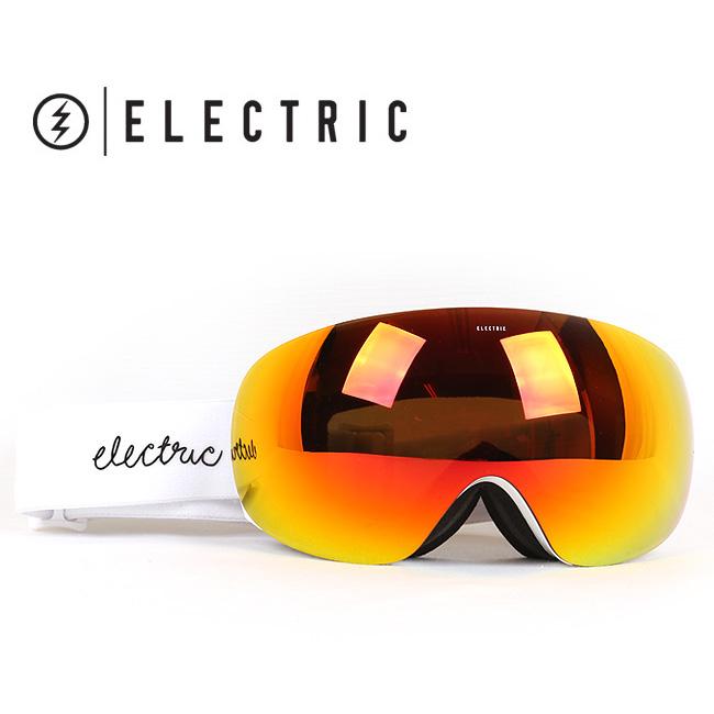 即日発送 2017 ELECTRIC エレクトリック ゴーグル EG3-W GLOSS WHITE BROSE/RED CHROME EG6516605 WOMENS【ゴーグル】アジアンフィット