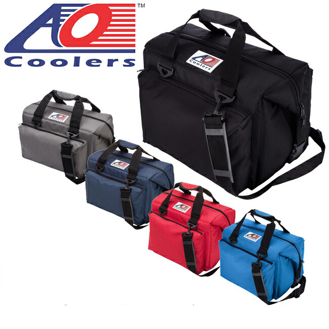 即日発送 AO Coolers エーオー クーラーズ クーラーバック 24パックキャンバスデラックス AO24DXBK/CH/NB/RD/RB 【ZAKK】クーラーボックス 保冷バック アウトドア キャンプ