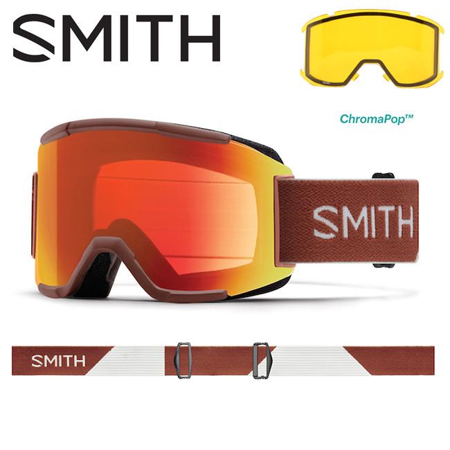 スミス SMITH OPTICS Squad Adobe Split/CP Everyday Red Mirror 【2018/日本正規品/ミディアムフィット】