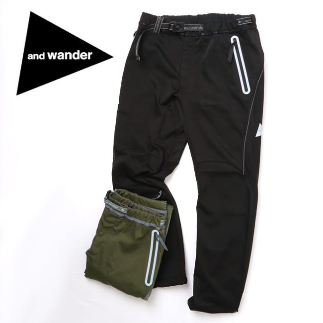 アンドワンダー and wander air hold pants AW83-FF015 【アウトドア/パンツ/撥水加工】 【clapper】