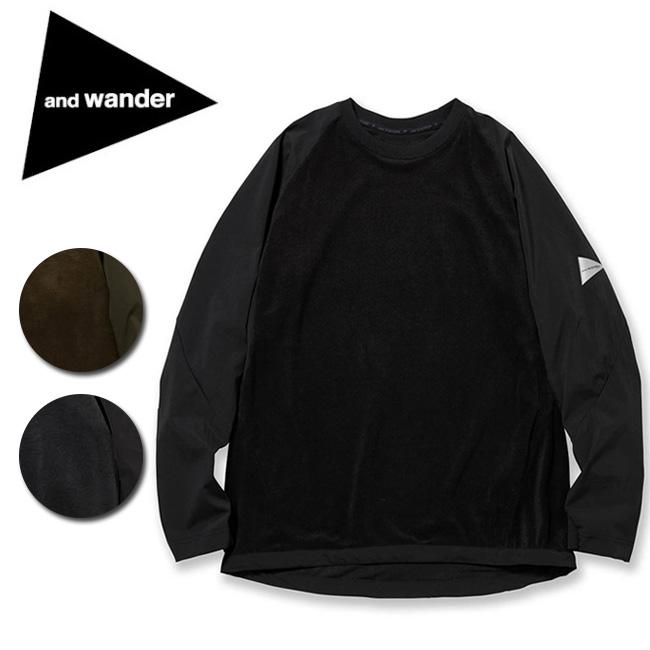 アンドワンダー and wander fleece base T AW83-JT644 【アウトドア/トップス/長袖】 【clapper】