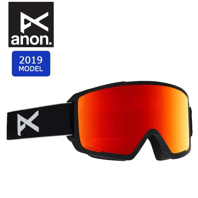 2019 anon アノン ASIAN M3 MFI W/SPR BLACK/SONARRED 20338100054 【ゴーグル/日本正規品/アジアンフィット/メンズ】 【clapper】