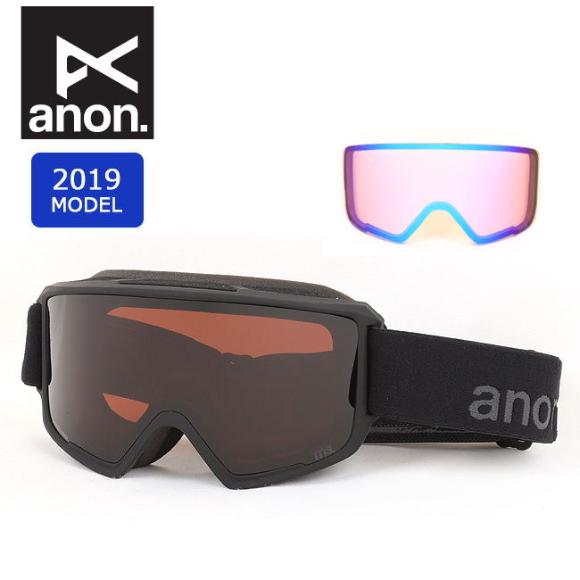 2019 anon アノン ASIAN M3 W/SPR SMOKE/SONARSMOKE 20339100032 【ゴーグル/日本正規品/アジアンフィット/メンズ】