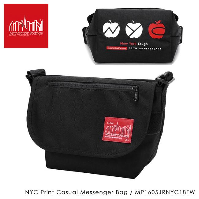 【数量限定】Manhattan Portage マンハッタンポーテージ NYC Print Casual Messenger Bag カジュアル メッセンジャー バッグ MP1605JRNYC18FW 【日本正規品/アウトドア/肩掛け/ショルダーバッグ/メンズ/レディース】 【clapper】