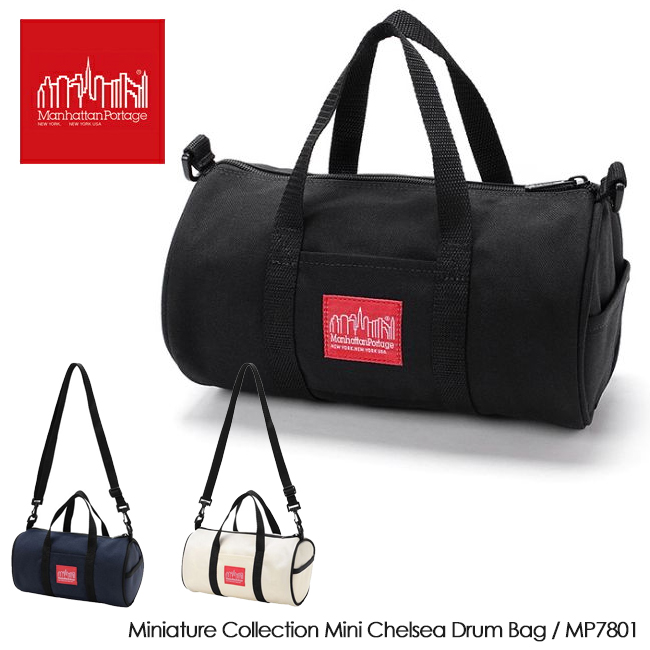 Manhattan Portage マンハッタンポーテージ Miniature Collection Mini Chelsea Drum Bag チェルシー ドラム バッグ MP7801 【アウトドア/肩掛け/ショルダーバッグ/ミニマル/ミニチュア】 【clapper】