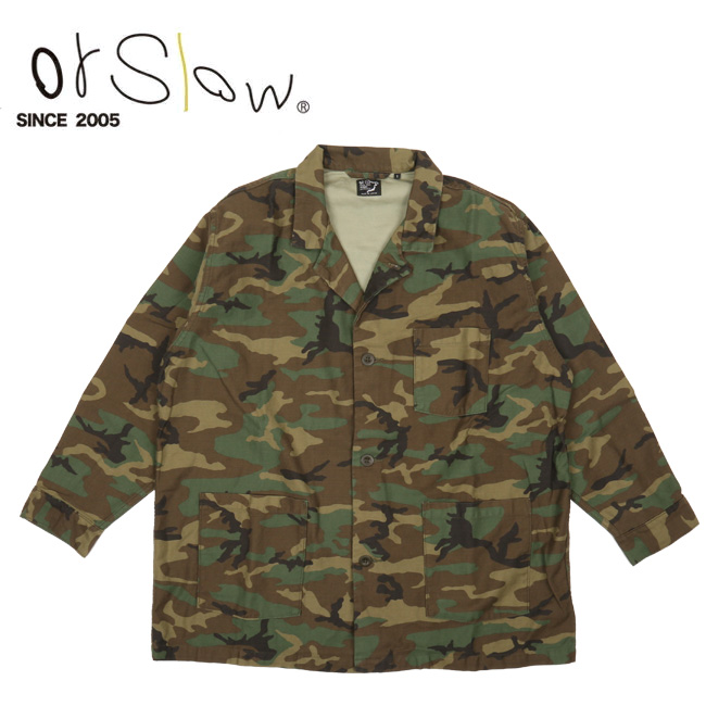 Orslow オアスロウ PAJAMA SHIRT Woodland Camouflage 01-8061 【アウトドア/トップス/パジャマ/ジャケット】 【clapper】