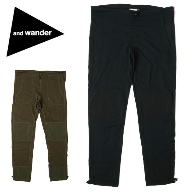 ★ アンドワンダー and wander dry jersey tights (M) AW91-JF928 【アウトドア/パンツ/ズボン/おしゃれ】