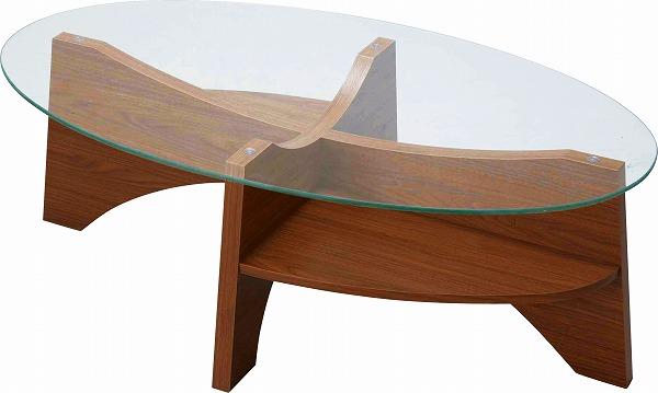 【メーカー直送】 オーバルテーブル ガラステーブル センターテーブル LE-454WAL 東谷 東谷一般商品 【送料無料】