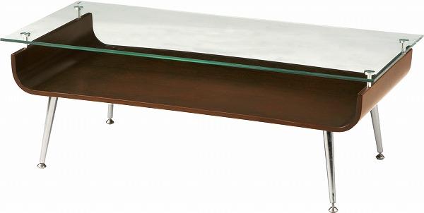 【メーカー直送】 ガラステーブル センターテーブル NET-301BR 東谷 東谷一般商品 【送料無料】