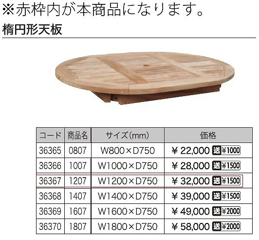 コンビネーションテーブル 楕円形天板 1207 36367 ジャービス商事
