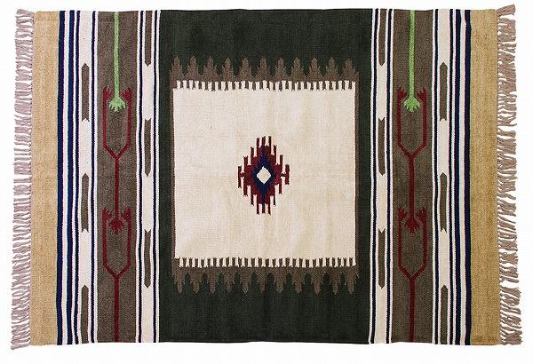 【メーカー直送】 TTR-106A 東谷 キリムラグ ラグマット じゅうたん 絨毯