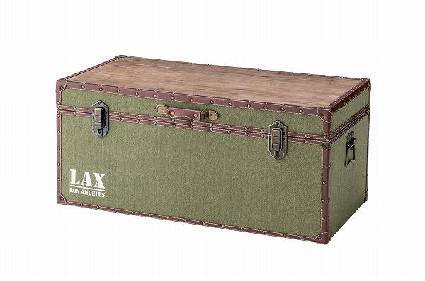 【メーカー直送】 トランクテーブル ローテーブル 収納ボックス トランク型 天然木