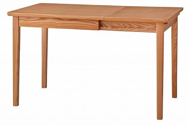 エクステンションダイニングテーブル リビングテーブル 天然木