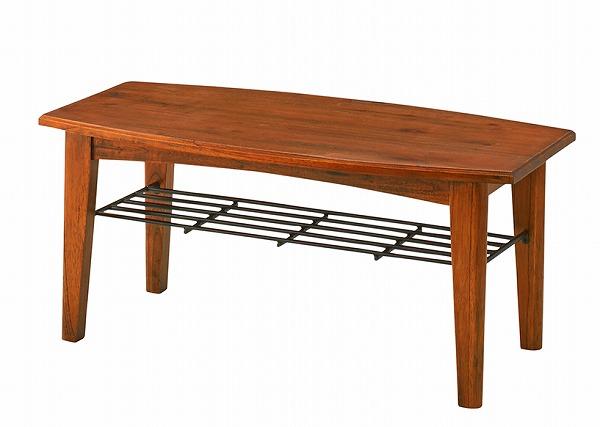 コーヒーテーブル センターテーブルS 収納棚付き 天然木 ティンバー
