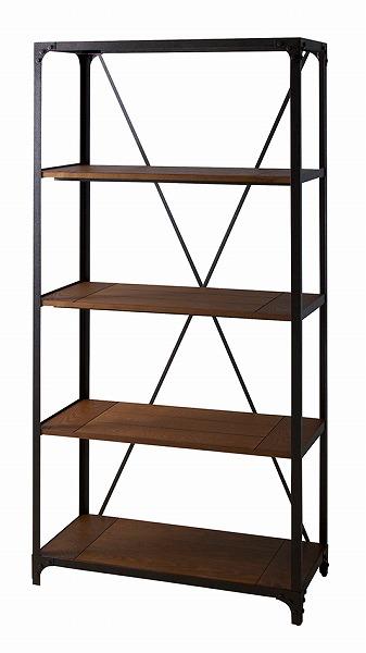 【メーカー直送】 ラック4段 天然木 シェルフ 棚 飾り棚 アジャスター付き 什器 収納