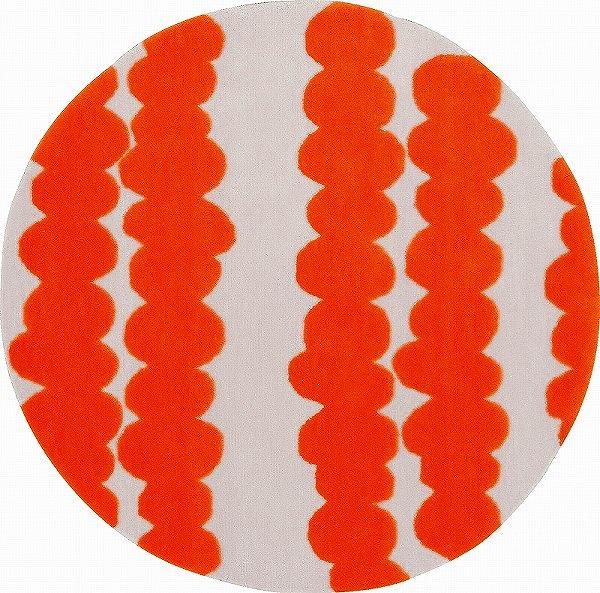 【メーカー直送】 1407-146 Prevell ラグ カーペット マット ノーラン オレンジ 約140×140cm