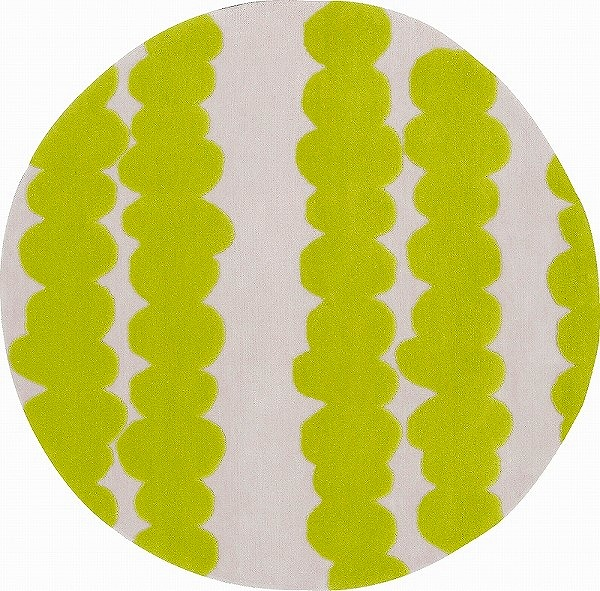 【メーカー直送】 1407-146 Prevell ラグ カーペット マット ノーラン グリーン 約140×140cm