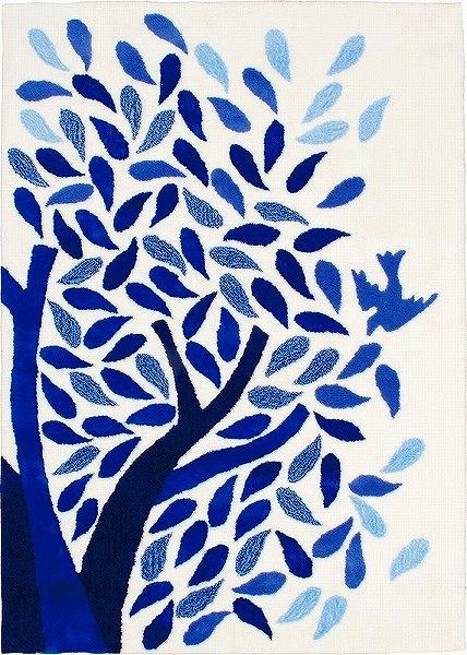 【メーカー直送】 1407-118 Prevell ラグ カーペット マット aoitori ブルー 約140×200cm