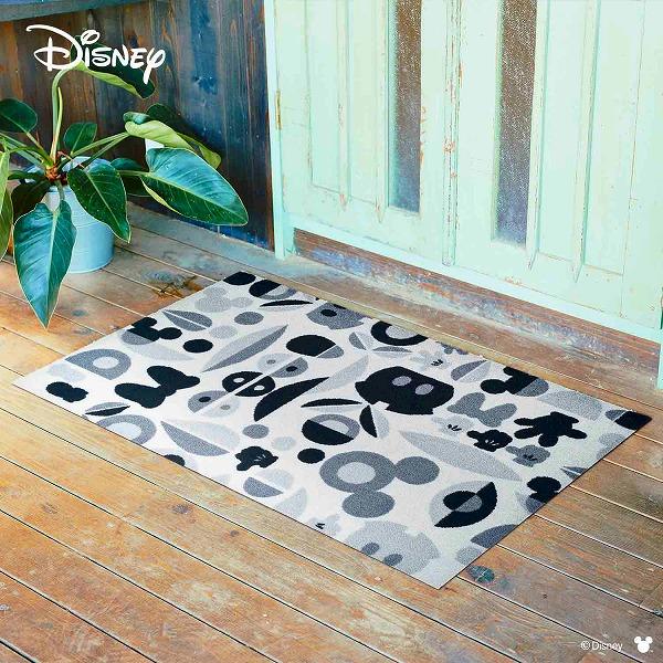 【メーカー直送】 Disney Mat Collection ディズニー 玄関マット Mickey ミッキー&ミニー モチーフ グレー 75×120cm 洗える 滑り止め BK00039 クリーンテックス