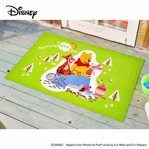 【メーカー直送】 Disney Mat Collection ディズニー 玄関マット Pooh プー&フレンズ 75×120cm 洗える 滑り止め BK00048 クリーンテックス
