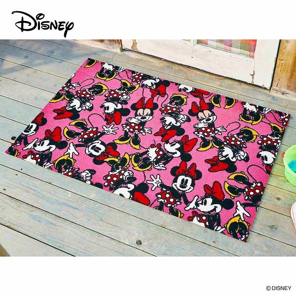 【メーカー直送】 Disney Mat Collection ディズニー 玄関マット Minnie ミニー 75×120cm 洗える 滑り止め BK00064 クリーンテックス
