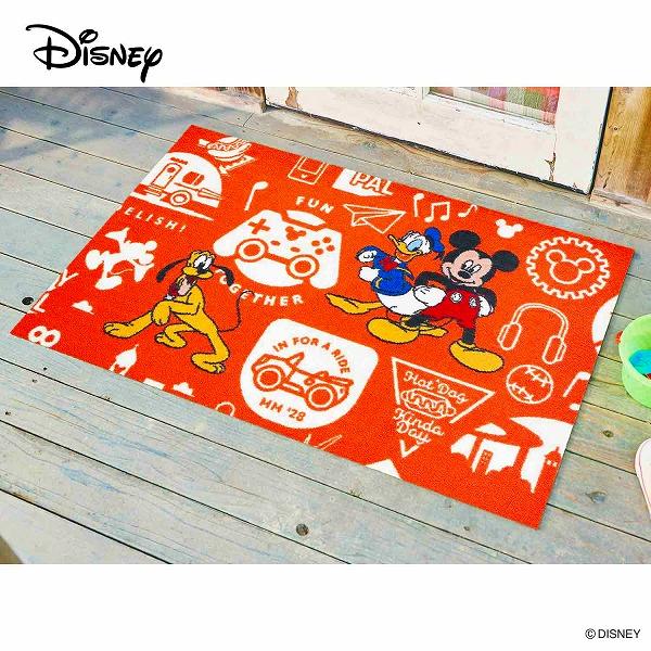 【メーカー直送】 Disney Mat Collection ディズニー 玄関マット Mickey ミッキーと仲間達 75×120cm 洗える 滑り止め BK00068 クリーンテックス
